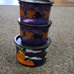 Tupperware containers Halloween small